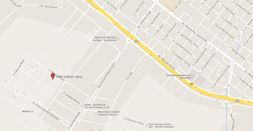 mapa werc